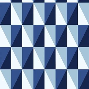 Adesivo em rolo Geométrico Diamantes Azul e Azul Marinho