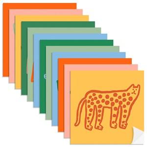 Adesivo para Azulejo Bichos Bacanas Laranja e Amarelo