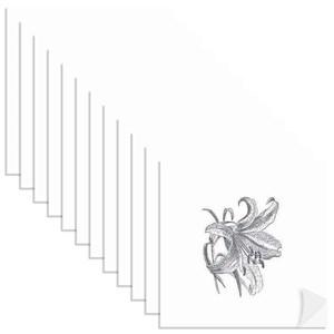Adesivo para Azulejo Borboletas I Preto e Branco