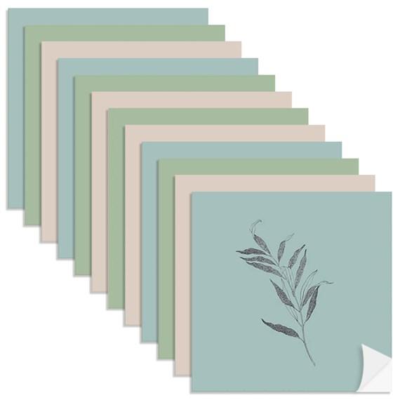 Adesivo para Azulejo Borboletas II Azul e Verde