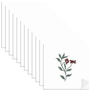 Adesivo para Azulejo Borboletas Verde e Vermelho