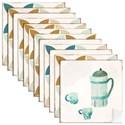 Adesivo para Azulejo Café Azul e Bege