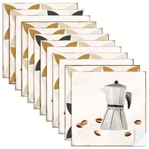 Adesivo para Azulejo Café Cinza e Bege