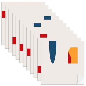 Adesivo para Azulejo Casinhas I Mostarda e Amarelo