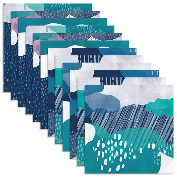 Adesivo para Azulejo Chuva Azul Marinho e Azul
