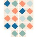Adesivo para Azulejo Circo Losangos Laranja e Azul