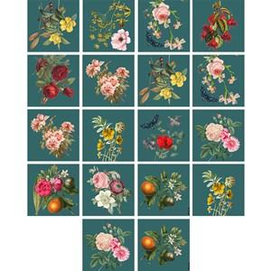 Adesivo para Azulejo Colagens I Verde e Rosa
