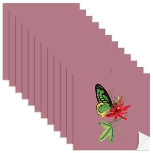 Adesivo para Azulejo Colagens Rosa e Verde
