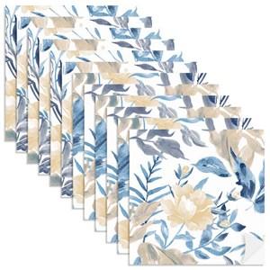 Adesivo para Azulejo Floral Aquarela Amarelo e Azul