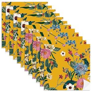 Adesivo para Azulejo Floral Cool Amarelo e Rosa