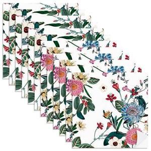 Adesivo para Azulejo Floral Cool Branco e Rosa