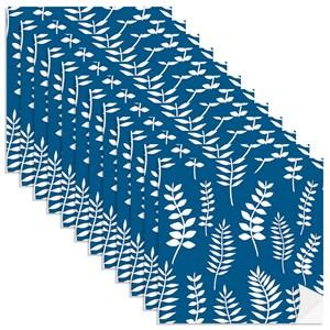 Adesivo para Azulejo Floresta Colorida Azul Marinho
