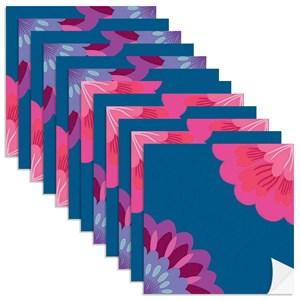 Adesivo para Azulejo Floresta Colorida Azul Marinho e Rosa