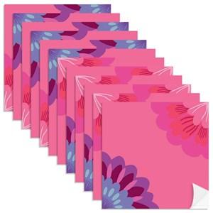Adesivo para Azulejo Floresta Colorida Rosa Escuro