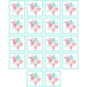 Adesivo para Azulejo Florzitas Azul e Branco