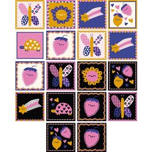 Adesivo para Azulejo Flower Power Preto e Rosa