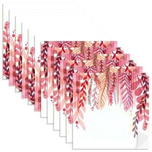 Adesivo para Azulejo Folhagens mais quentes Vermelho e Lilás