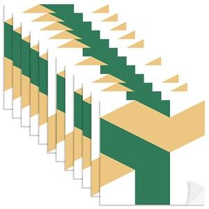Adesivo para Azulejo Geométrico Bumerangue Amarelo e Verde Escuro