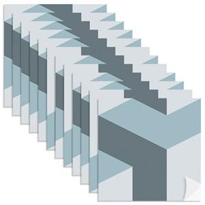 Adesivo para Azulejo Geométrico Bumerangue Azul Claro