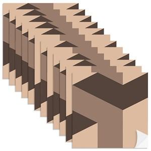 Adesivo para Azulejo Geométrico Bumerangue Bege e Marrom
