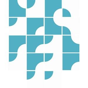 Adesivo para Azulejo Geométrico Criativo Azul I