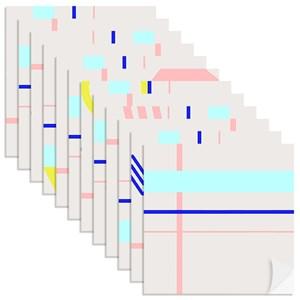 Adesivo para Azulejo Geométrico do Mar Amarelo e Azul