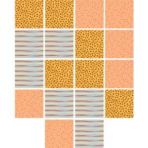 Adesivo para Azulejo Granja da Manu Amarelo e Laranja