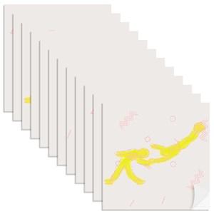 Adesivo para Azulejo Nadadores Amarelo e Azul