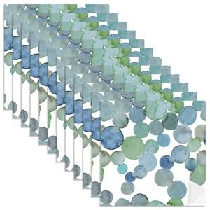 Adesivo para Azulejo No meio da Mata Azul e Verde