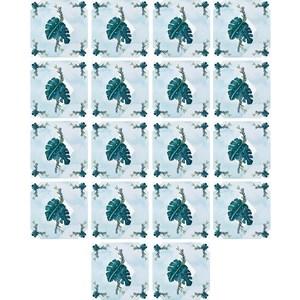 Adesivo para Azulejo No meio da Mata I Azul e Verde