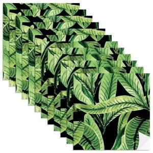 Adesivo para Azulejo Paisagem Tropical Preto e Verde