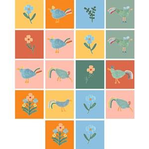 Adesivo para Azulejo Passarinhos Colorido