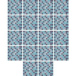 Adesivo para Azulejo Pastilhas Azul Marinho e Azul