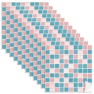 Adesivo para Azulejo Pastilhas Rosa e Azul