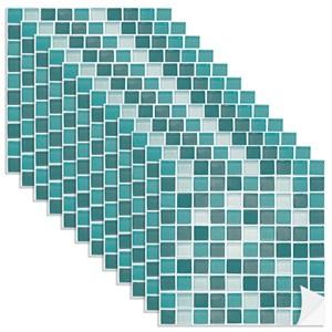 Adesivo para Azulejo Pastilhas Verde e Azul
