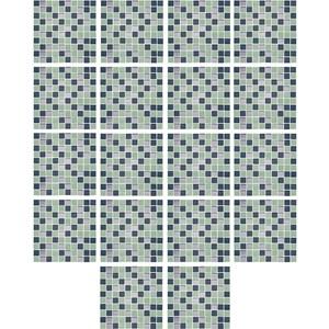 Adesivo para Azulejo Pastilhas Verde e Azul Marinho