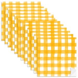 Adesivo para Azulejo Piquenique Amarelo e Branco 01