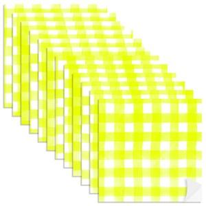 Adesivo para Azulejo Piquenique Amarelo e Branco