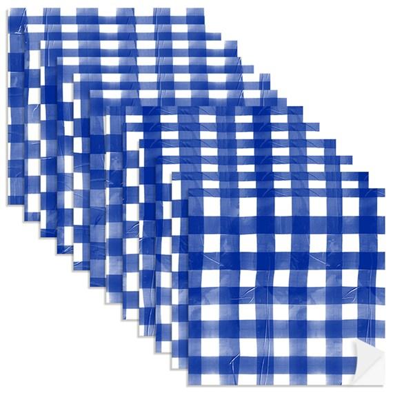 Adesivo para Azulejo Piquenique Azul e Branco