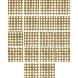 Adesivo para Azulejo Piquenique Marrom e Branco