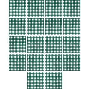 Adesivo para Azulejo Piquenique Verde e Branco