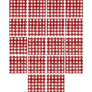 Adesivo para Azulejo Piquenique Vermelho e Branco