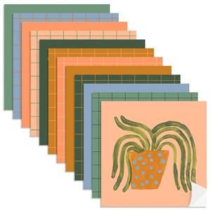 Adesivo para Azulejo Plantas Exóticas Colorido