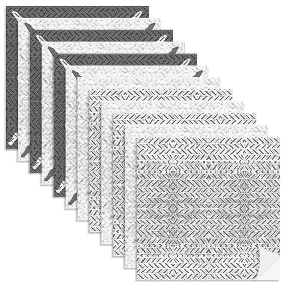 Adesivo para Azulejo Rustic Patch Cinza