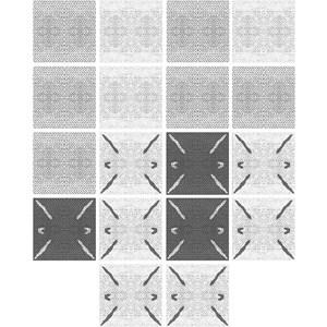 Adesivo para Azulejo Rustic Setas Cinza I