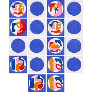 Adesivo para Azulejo Tela Azul I