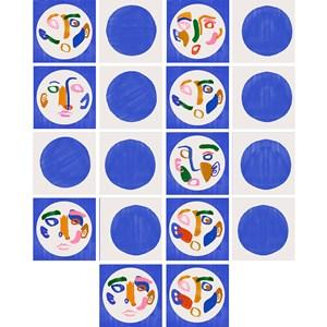 Adesivo para Azulejo Tela Azul II