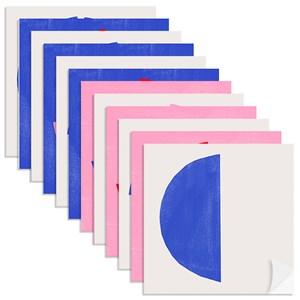 Adesivo para Azulejo Tela Azul Rosa e Azul