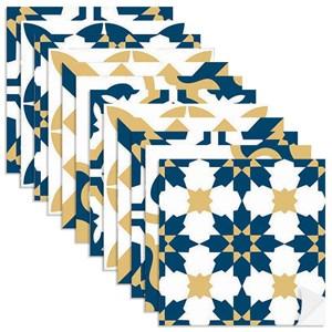 Adesivo para Azulejo Tradicional Azul Marinho e Amarelo