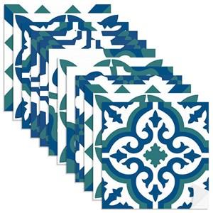 Adesivo para Azulejo Tradicional Azul Marinho e Branco